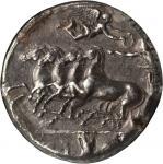 SICILY. Syracuse. Dionysios I, 406-367 B.C. AR Decadrachm (42.98 gms), ca. 405-390 B.C. NGC Ch EF, S