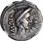 JULIUS CAESAR. AR Denarius (3.71 gms), Rome Mint, ca. 44 B.C.