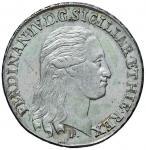 Italian coins;NAPOLI Ferdinando IV (1759-1798) Piastra 1796 - Magliocca 258 AG (g 27.47) Graffi di c