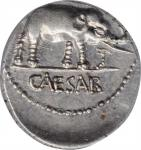 JULIUS CAESAR. AR Denarius, Military mint traveling with Caesar, 49 BC. ANACS AU 50.