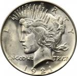 1921 Peace Silver Dollar. High Relief. MS-65 (PCGS).