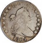 1805/4 Draped Bust Half Dollar. O-103, T-11. Rarity-5+. Fine-12 (PCGS). CAC.