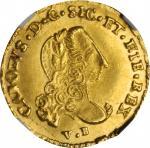 ITALY. Sicily. Oncia, 1750-PN. Carlo di Borbone. NGC MS-64.