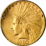 1910-D Indian Eagle. Unc Details--Cleaned (PCGS).