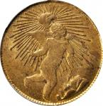 MEXICO. 1/8 Real, 1863. Zacatecas Mint. PCGS MS-63 Gold Shield.