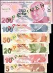 2009年土耳其实业银行5至200 Yeni Turk Lirasi。样票。