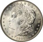 1921 Morgan Silver Dollar. MS-66+ (PCGS).