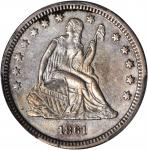 1861-S Liberty Seated Quarter. Briggs 1-A. AU-55 (PCGS).