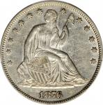 1876 Liberty Seated Half Dollar. WB-102. Type II Reverse. AU-50 (PCGS).