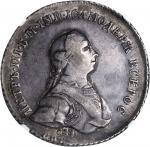 RUSSIA. Novodel Pattern Ruble, 1762-CNB. Peter III (1761-62). NGC EF-40.