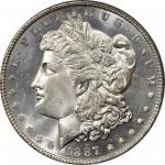 1887/6 Morgan Silver Dollar. VAM-2. Top 100 Variety. MS-65 DMPL (PCGS). OGH.