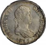 CHILE. 8 Reales, 1813-So FJ. Santiago Mint. Ferdinand VII. NGC MS-61.