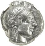 ATHENS 40ATTICA41: 440-404 BC, AR tetradrachm, S-2526, helmeted bust of Athena right // owl standing