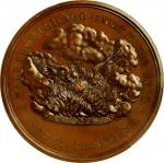 """1871"" (ca. 1872) Chicago Fire Commemorative medal. Copper, Bronzed. 51 mm. By William Barber. Julia"