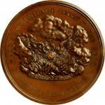 """1871"" (ca. 1872) Chicago Fire Commemorative medal. Copper, Bronzed. 51 mm. By William Barber. Julia"