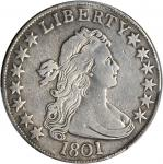 1801 Draped Bust Half Dollar. O-101, T-2. Rarity-3. Fine Details--Repaired (PCGS).