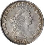 1803 Draped Bust Half Dollar. O-103, T-3. Rarity-3. Large 3. EF-45 (PCGS). CAC.