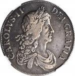 1664年英国一圆查理二世 GREAT BRITAIN. Crown, 1664. Charles II. NGC VF-30.