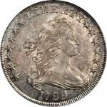 1799 Draped Bust Silver Dollar. BB-169, B-21. Rarity-3. AU-58 (PCGS). CAC.