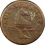 1788 New Jersey copper. Maris 66-v. Rarity-5+. Braided Mane. VF-35 (PCGS).