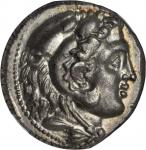 SICILY. Siculo-Punic. AR Tetradrachm (17.23 gms), ca. 300-289 B.C. NGC MS, Strike: 4/5 Surface: 5/5.