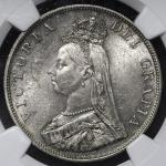 GREAT BRITAIN Victoria ヴィクトリア(1837~1901) 2Florin 1889 NGC-MS61 AU
