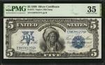 Fr. 275. 1899 $5 Silver Certificate. PMG Choice Very Fine 35.