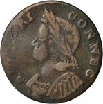 1785 Connecticut Copper. Miller 7.2-D, W-2445. Rarity-6. Mailed Bust Left. VF-30 (PCGS).