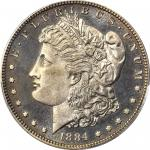 1884 Morgan Silver Dollar. Proof-64 Cameo (PCGS). CAC.