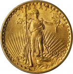 1911 Saint-Gaudens Double Eagle. AU-55 (PCGS).