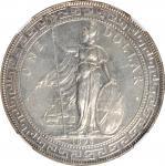 1895年英国贸易银元站洋壹圆银币。 GREAT BRITAIN. Trade Dollar, 1895. Victoria. NGC Unc Details--Cleaned.