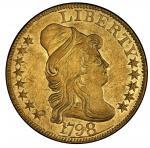 1798美国金币Capped Bust Right Half Eagle PCGS AU 55