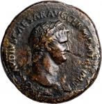 NERO, A.D. 54-68. AE Sesterius (30.40 gms), Rome Mint, A.D. 64-66. VERY GOOD.