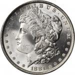 1881 Morgan Silver Dollar. MS-66 (PCGS). Gold Shield Holder.