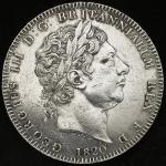 GREAT BRITAIN George III ジョージ3世(1760~1820) Crown 1820LX   强い洗浄 -EF