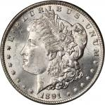 1891-CC Morgan Silver Dollar. VAM-3. Top 100 Variety. Spitting Eagle. MS-64 (PCGS).