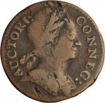 1785 Connecticut Copper. Miller 6.4-K, W-2425. Rarity-6+. Mailed Bust Right. Fine-12 (PCGS).