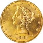 1901-S Liberty Head Eagle. MS-63 (PCGS).
