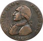 1792 Washington President pattern. GENERAL reverse. Musante GW-35, Baker-59. Copper. Plain edge. VF-