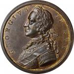 1759 British Victories Medal. Brass. 43 mm. Betts-418, Eimer-677. About Uncirculated.