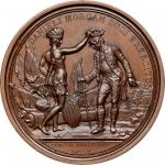 1781 (i.e. after 1839) Daniel Morgan at Cowpens medal. Betts-593, Julian MI-7. Bronze. Copy dies by
