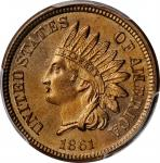 1861 Indian Cent. MS-66 (PCGS). CAC.