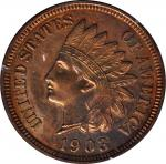 1903 Indian Cent. Proof-63 RB (PCGS). OGH--First Generation.