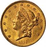 1857 Liberty Head Double Eagle. MS-61 (PCGS). CAC.