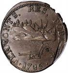 1785 Vermont Copper. Landscape. RR-3, Bressett 2-B, W-2010. Rarity-4. VERMONTS. AU-55 (PCGS).