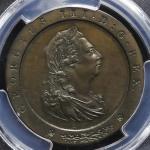 GREAT BRITAIN George III ジョージ3世(1760~1820) Pattern Penny 1797 PCGS-PR64BN Proof  UNC+