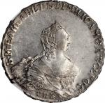 RUSSIA. Ruble, 1755-CNB RI. St. Petersburg Mint. Elizabeth. NGC MS-61.