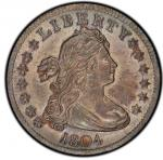 1804 Draped Bust Quarter. Browning-1. Rarity-3. Mint State-64 (PCGS).PCGS Population: 3, none finer.