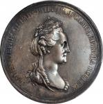 RUSSIA. Birth of Alexander I Silver Medal, 1777. PCGS SPECIMEN-55 Gold Shield.