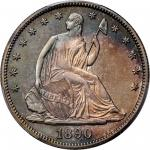 1890 Liberty Seated Half Dollar. Proof-66+ (PCGS). CAC--Gold Label.